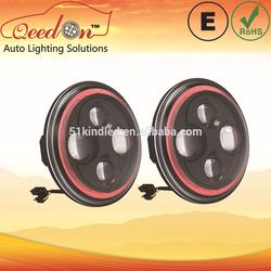 Qeedon 7inch LED Round E-mark DOT Head lights led head lamp for kdh200 led headlight for Harley Davidson