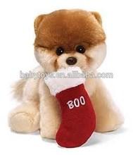 christmas tree dog toy christmas dog decoration plush boo dog for christmas