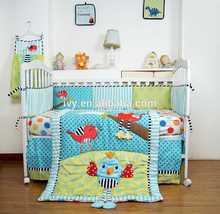 2015 factory price baby bed sheet set for Shanghai exported applique elegant bedding setbed sheet