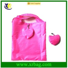 small heart shape foldable nylon/polyester promotional shopping bag