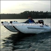 Customized fiberglass catamaran boat inflatable sailing catamaran for sale