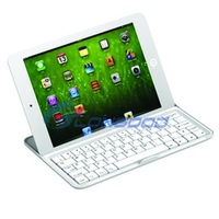 3 in 1 (Wireless Bluetooth Keyboard + Aluminum Case+ Stand) Aluminum Bluetooth Ultra Thin Keyboard Case for ipad mini