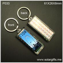 solar power flashing lcd keychain with digital clock