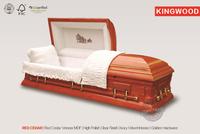 RED CEDAR casket coffin funeral coffins purple biers