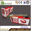 contador de caixa com telefone celular e acessórios de exibição
