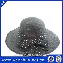 Resort Style Fedora Hat Floppy Fashion Flower Straw Fedora Hat