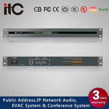 TS-P880 8*8 Audio Matrix Processor Controlled by External Panel via TCP/IP Protocol