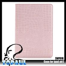 Luxury Flip PU Leather Stand Auto Sleep Wake up Function Crocodile Skin case for Apple iPad Air2