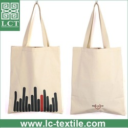 supply 100% AZO free blank cotton tote bag with inner pocket design(LCTB0051)