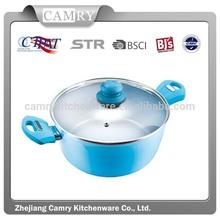 24cm aluminium forged ceramic color pot with lid