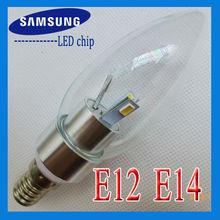 shenzhen China CE RoHS approved 3W candle bulb light 110v 120v 220v E12 E14 E27