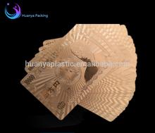 custom gold foil playing card of JPY/RMB/USD