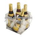 Alta qualidade venda quente claro plástico sacos de gelo, claro saco refrigerador de vinho