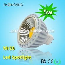 450lm 12V led mr16 spot,5W Epistar cob led mr16 led ceiling spotlight