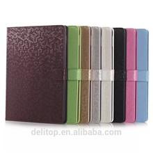 Luxury Diamond Grain PU Leather Flip Cover Case Stand For Apple iPad Air 2/iPad 6