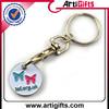 Customized design famous brand logo euro coin key chain