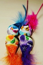 Easter colorful bird wedding decoration refrigerator magnet,artificial birds for crafts