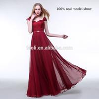 Univision Boutique Vintage Retro Dresses Long Backless 2015 Chiffon Real Evening Dress