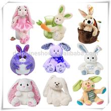 Festival cute various plush easter day bunny gift soft easter rabbit