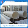 Diâmetro 700 milímetros grande tubo plástico, 10mm espessura do tubo de plástico pvc