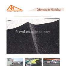 Foshan Xinwangda factory price flocked woven fabric, long velvet polyester needle punch nonwoven felt fabric