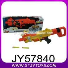 Boy's toy flying disc gun plastic electronic soft bullets gun toy for sale