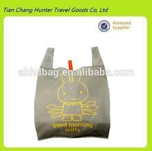 Lovely rabbit folding environmental protection type portable shopping bag