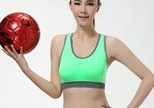 fashion gym/yoga/sport bra with but pad inside