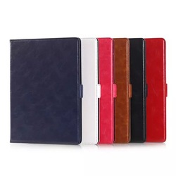 High Quality Oily Leather Stand PU Leather Smart Cover Wallet Case For Apple iPad Air 2/iPad 6