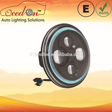 Qeedon 7inch LED Round E-mark DOT Head lights power-saving parts for jeep led headlight for Harley Davidson