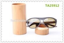 2015 newest fashion full acetate pilot polarized sunglasses imitate wood frame and temples