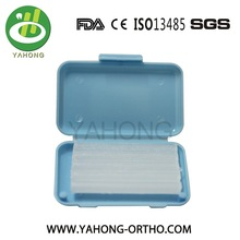 Different color packing and flavors edible dental wax for orthodontic Brackets use