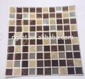 forma quadrata e misti colore famiglia resina mattonelle di mosaico di vetro misto