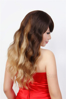 ombre synthetic hair wigs Talor style long blonde Synthytic hair wigs 2015 fashion wigs