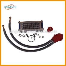 CNC Oil Cooler Kit & 425mm Braided Hoses For Pit Bike Engine (Long Hoses)