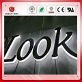 Personalizado de aceroinoxidable con retroiluminación led de signos, sistema deiluminación al aire libre de letras de canal