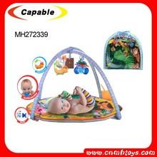 Cheap plush baby play mat/baby sleeping mats China toy