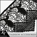 15 metros esticar tela do laço de tecido preto de renda venise franja guarnição embelezamento de costura e artesanato