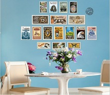 Large Size Printed Stamp collecting Wall Sticker