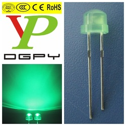 5mm 0.06W Straw hat Green diffused Led