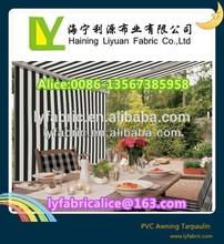 awning fabric pvc tarpaulin color stripes