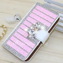 Luxury bling bling wallet case for LG L Bello,crystal case for LG L Bello,bling diamond case for LG D331 D335