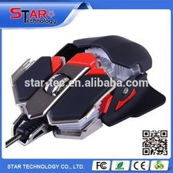 9D 6400DPI LED Light Ergonomic Macro USB Wired Gaming Mouse