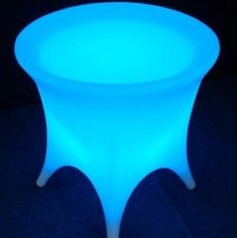 illuminated round outdoor pub table,led rechargeable table glow-furniture