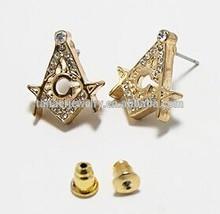 allergy free rhinestone stud earrings,fake plug ear stud earrings,ear stud gold plated