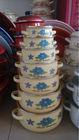 Enamel casserole set, steel kitchenware , enamel cookware set with High quality