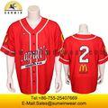Sublimación completa impresión de uniformes de béisbol / béisbol jersey fábrica