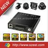 HDD build-in G-sensor anti vibration wifi GPS 3G 1080p 4ch mobile DVR