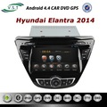 Ultimo androide rockchip 4.4 a9 dual- Core sistema car audio dvd radio con gps navigazione per hyundai elantra 2014