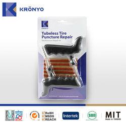KRONYO Taiwan hand tool tyre repair seal string car tyre repair kit